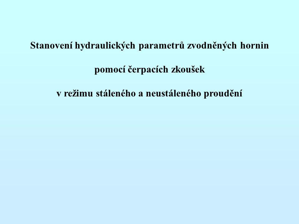 Stanovení hydraulických parametrů zvodněných hornin pomocí čerpacích zkoušek v režimu stáleného a neustáleného proudění