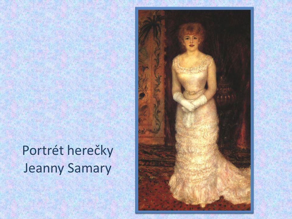 Portrét herečky Jeanny Samary