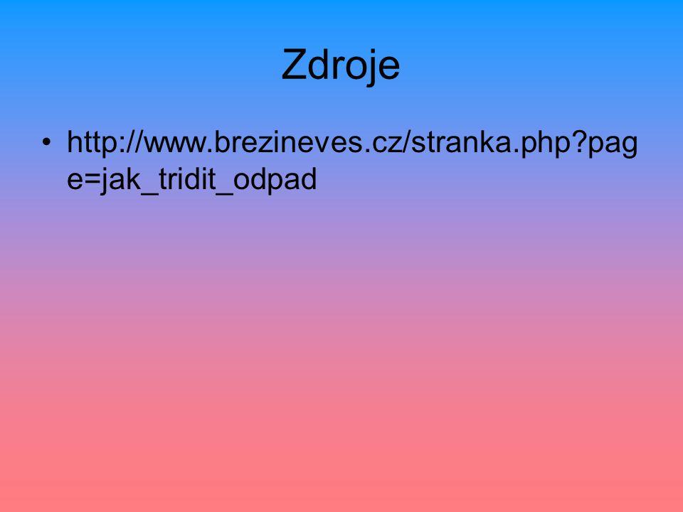 Zdroje http://www.brezineves.cz/stranka.php?pag e=jak_tridit_odpad