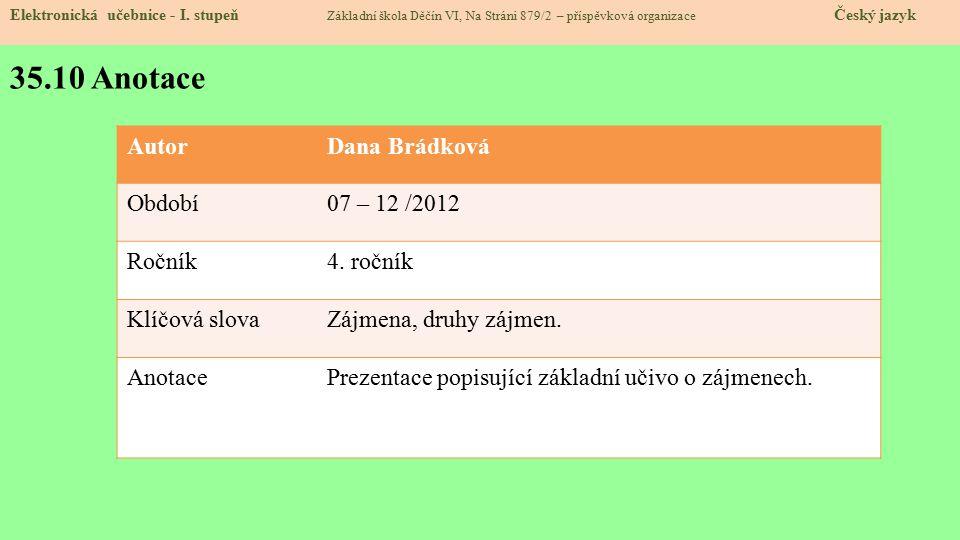 35.10 Anotace Elektronická učebnice - I.
