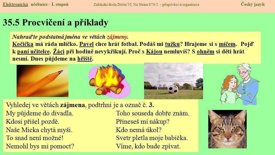35.5 Procvičení a příklady Elektronická učebnice - I.