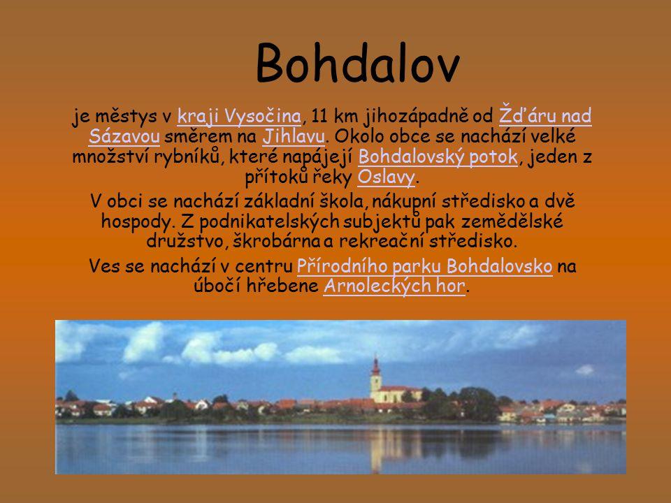 Bohdalov je městys v kraji Vysočina, 11 km jihozápadně od Žďáru nad Sázavou směrem na Jihlavu. Okolo obce se nachází velké množství rybníků, které nap