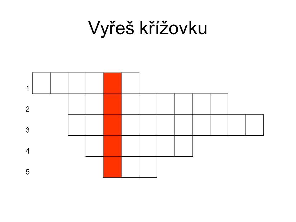 Vyřeš křížovku 1 2 3 4 5