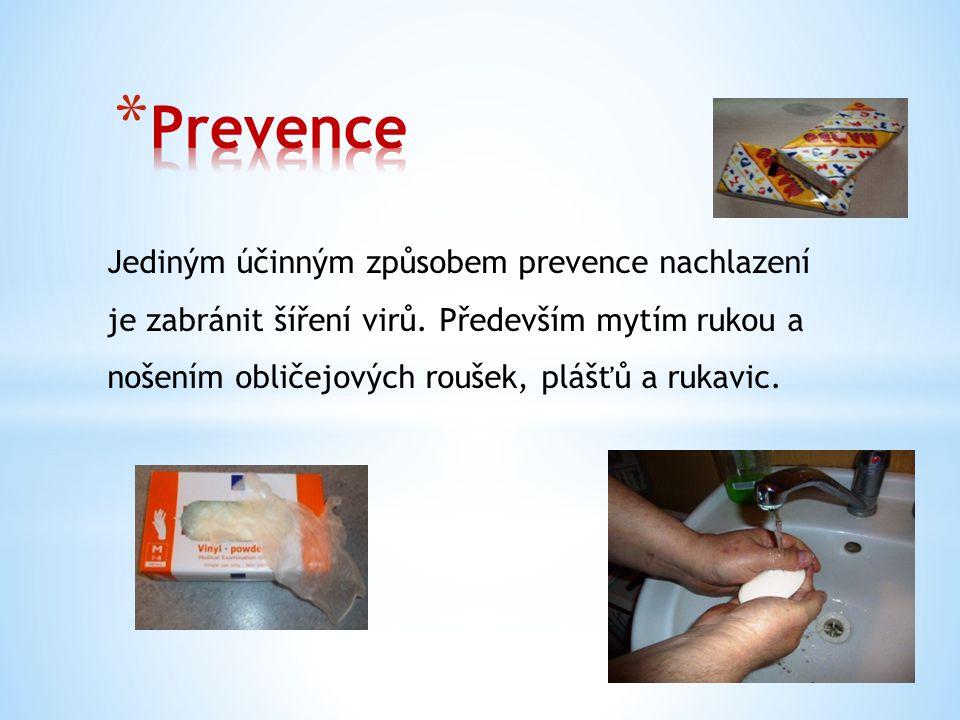 Jediným účinným způsobem prevence nachlazení je zabránit šíření virů.