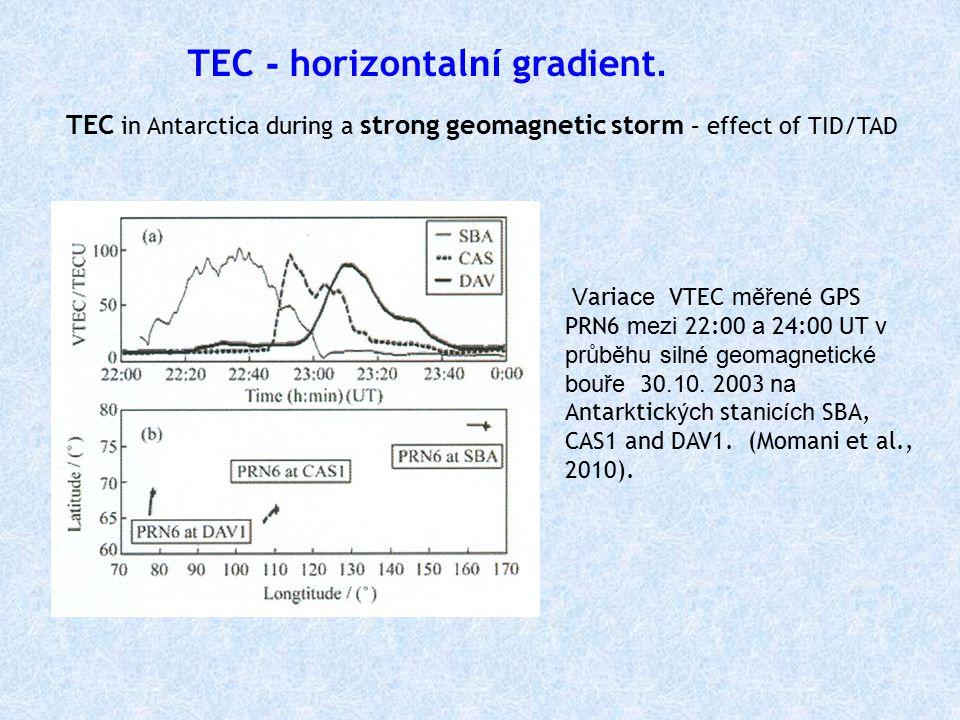 TEC - horizontal ní gradient.