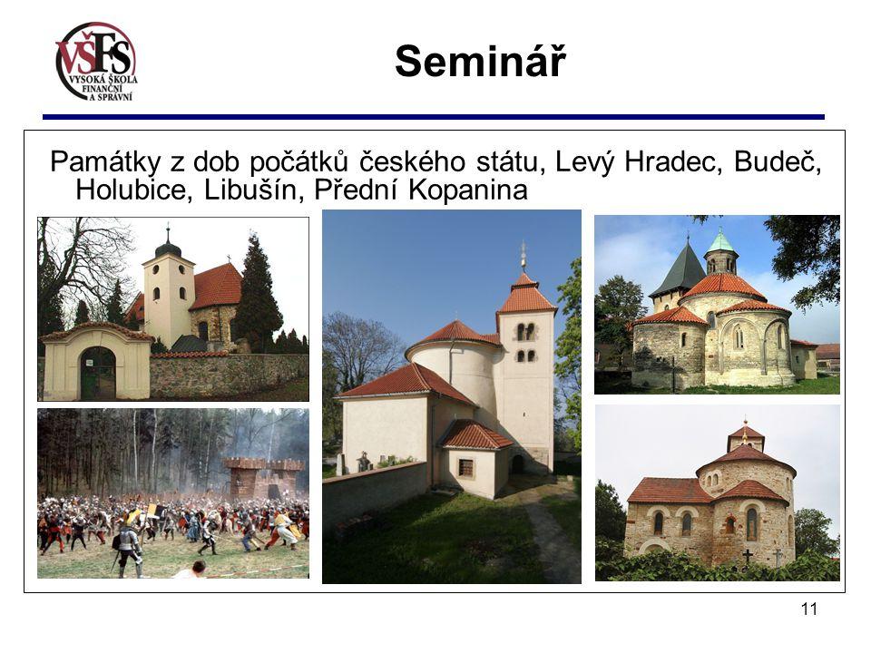 11 Seminář Památky z dob počátků českého státu, Levý Hradec, Budeč, Holubice, Libušín, Přední Kopanina