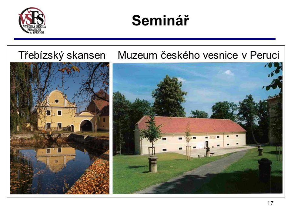 17 Třebízský skansen Muzeum českého vesnice v Peruci Seminář