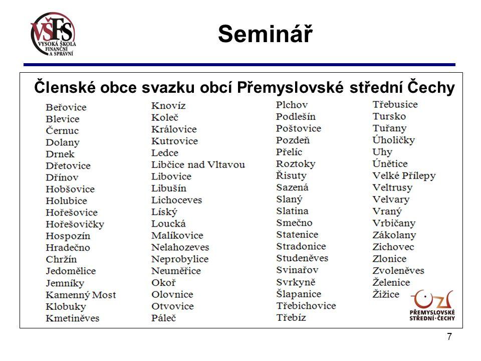 7 Seminář Členské obce svazku obcí Přemyslovské střední Čechy