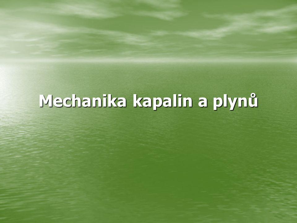 Archimedův zákon Těleso ponořené do kapaliny je nadlehčováno hydrostatickou vztlakovou silou, která se rovná tíze kapaliny stejného objemu, jako je objem ponořené části tělesa.