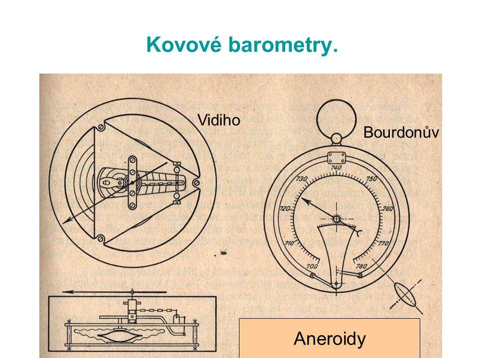 Kovové barometry. Aneroidy Vidiho Bourdonův