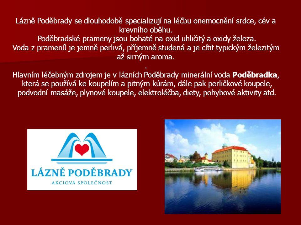 Lázně Poděbrady se dlouhodobě specializují na léčbu onemocnění srdce, cév a krevního oběhu.