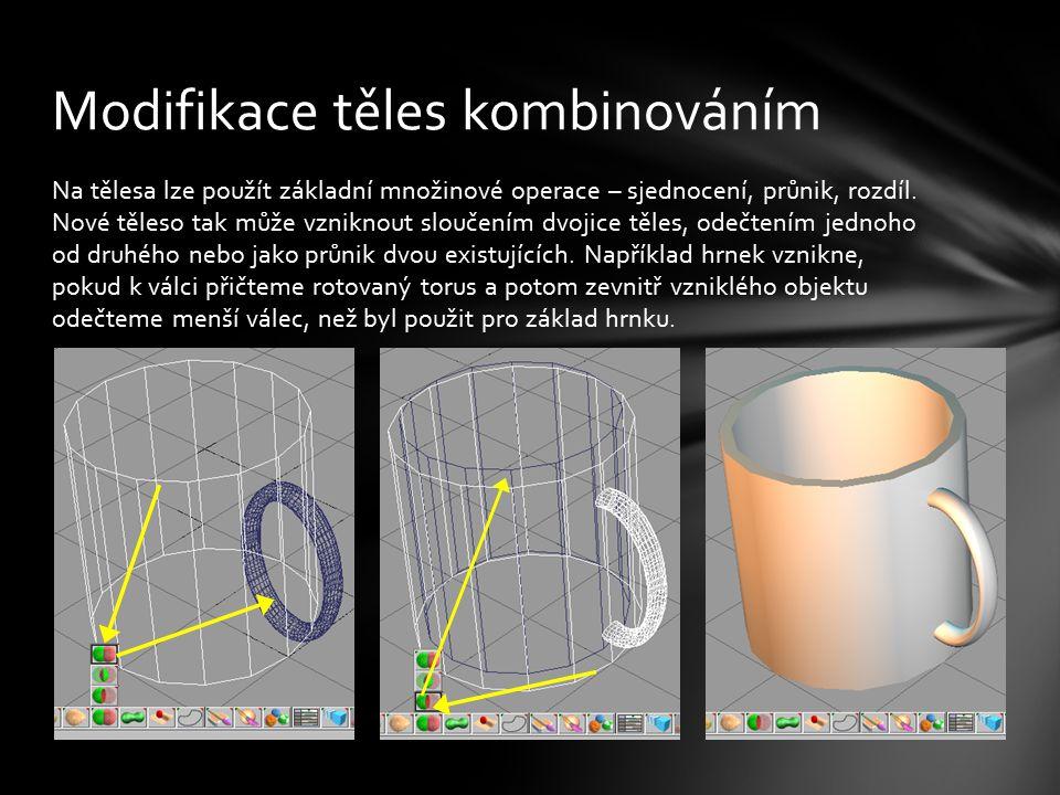Pomocí kombinací a transformací objektů se pokuste vytvořit pohár.