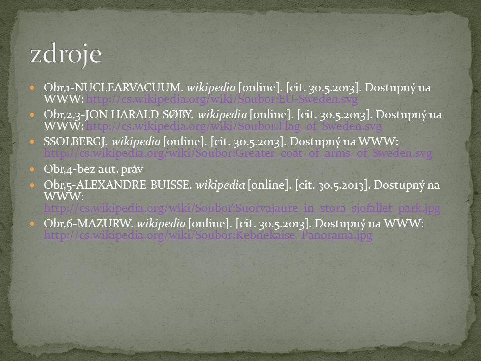 Obr,1-NUCLEARVACUUM. wikipedia [online]. [cit. 30.5.2013]. Dostupný na WWW: http://cs.wikipedia.org/wiki/Soubor:EU-Sweden.svghttp://cs.wikipedia.org/w