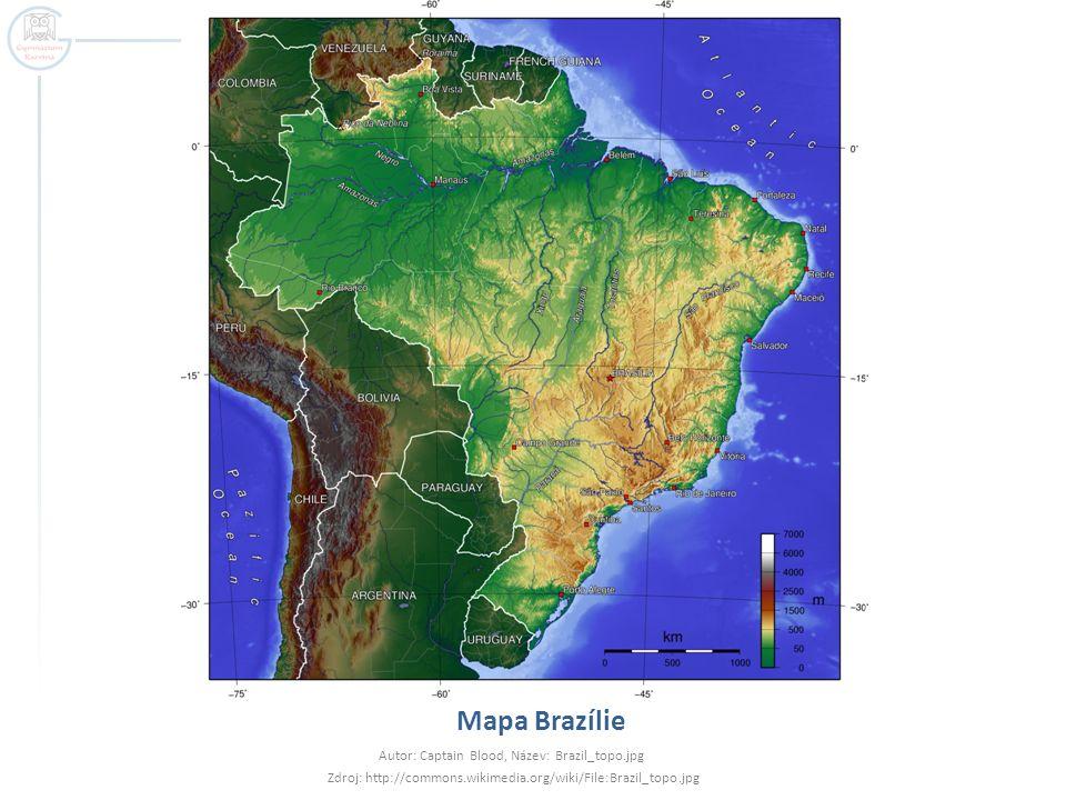 Přírodní poměry  Povrch – plochý nížinatý a tabulový povrch  Severní polovina Amazonská nížina  Jižní polovina – pahorkatiny Brazilské vysočiny  Podnebí – převážně tropické  Sever – tropické deštné (28°C, 3000 mm srážek)  Jih – teplé suché subtropy – období dešťů v létě  Vegetace – odpovídá podnebným charakteristikám a nadmořské výšce  70% pokývají topické deštné lesy  Jižní třetina – travnaté campos - stepi  Podél jižního pobřeží – mediterální vegetace
