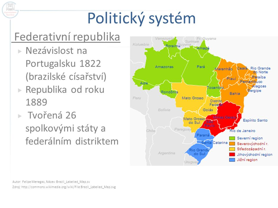 Obyvatelstvo  Pátá nejlidnatější země světa  Velká etnická pestrost  Běloši – 55%  Mulati – 25%  Mestici a černoši – 10% a 10%  Minimum původních indiánů – většina v Amazonii  Značně nerovnoměrné rozmístění  Na JV pobřeží 80% obyvatel – velké aglomerace  Rio de Janeiro (12 mil.), Sao Paulo (19 mil.)  Problémem migrace z chudých amazonských regionů do měst  Kriminalita a chudinské slumy (negramotnost až 25%)
