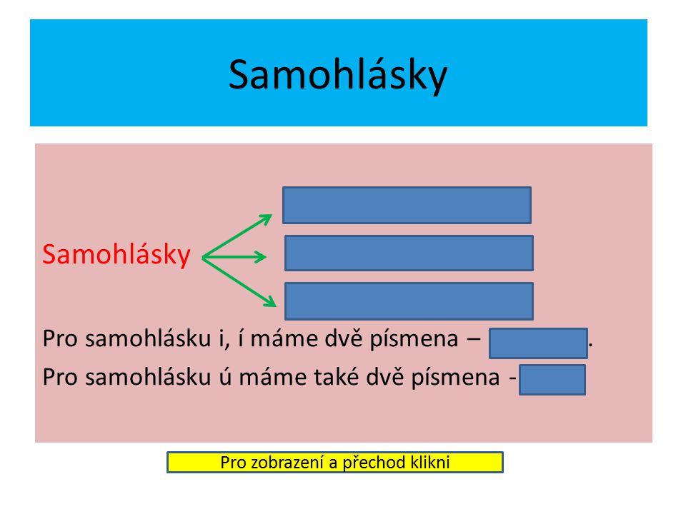 Rozdělení hlásek samohlásky souhlásky Pro zobrazení a přechod klikni