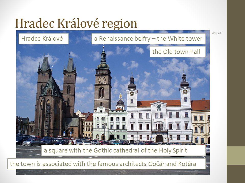 Hradec Králové region obr. 20 Hradce Králové a square with the Gothic cathedral of the Holy Spirit the Old town hall a Renaissance belfry – the White