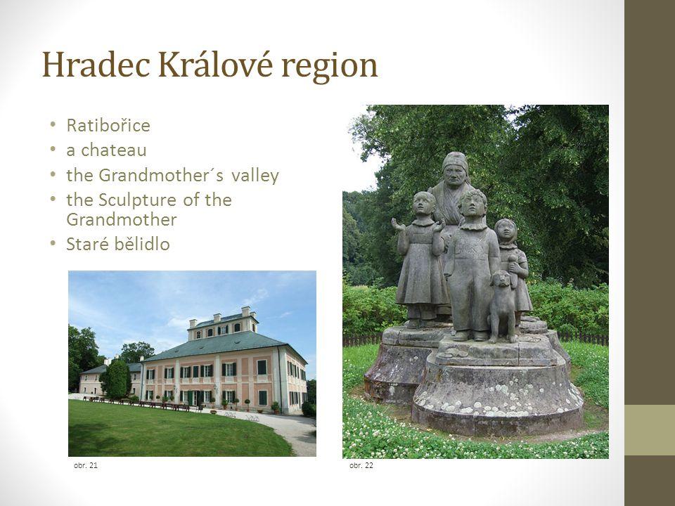 Hradec Králové region Ratibořice a chateau the Grandmother´s valley the Sculpture of the Grandmother Staré bělidlo obr. 21 obr. 22