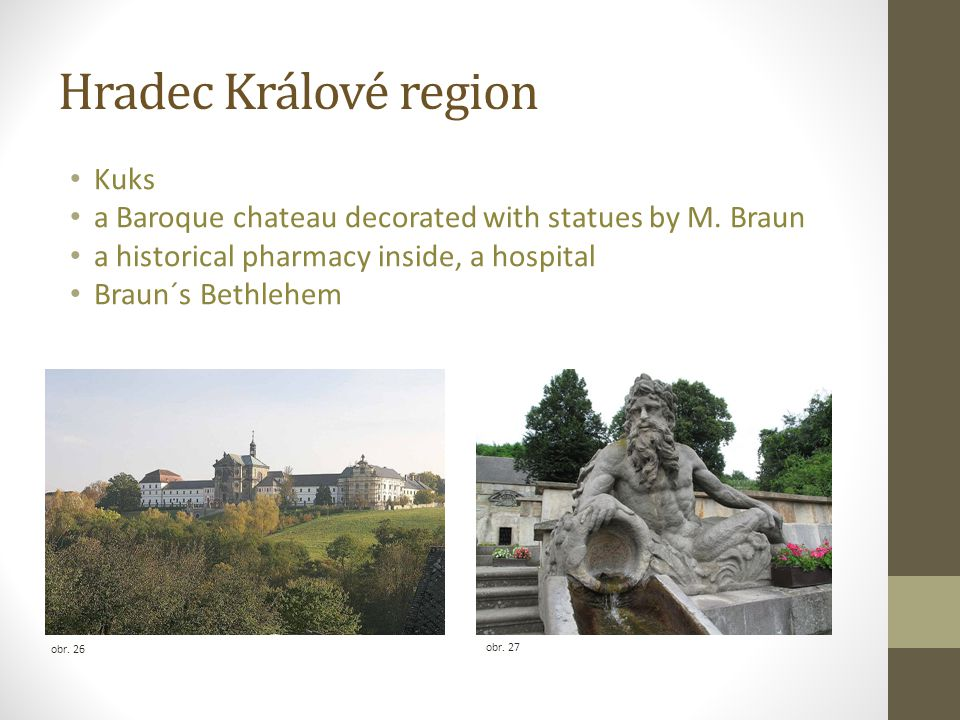 Hradec Králové region Kuks a Baroque chateau decorated with statues by M.