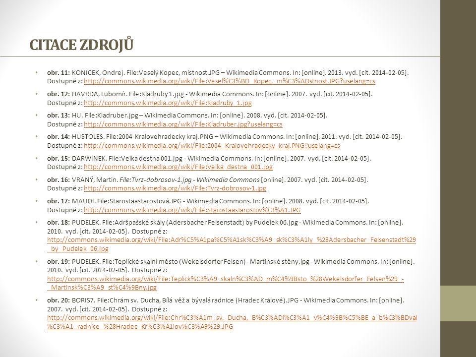 CITACE ZDROJŮ obr. 11: KONICEK, Ondrej. File:Veselý Kopec, místnost.JPG – Wikimedia Commons. In: [online]. 2013. vyd. [cit. 2014-02-05]. Dostupné z: h