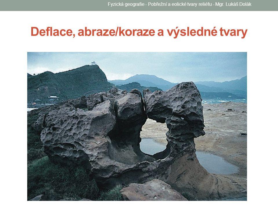 Deflace, abraze/koraze a výsledné tvary Fyzická geografie - Pobřežní a eolické tvary reliéfu - Mgr. Lukáš Dolák