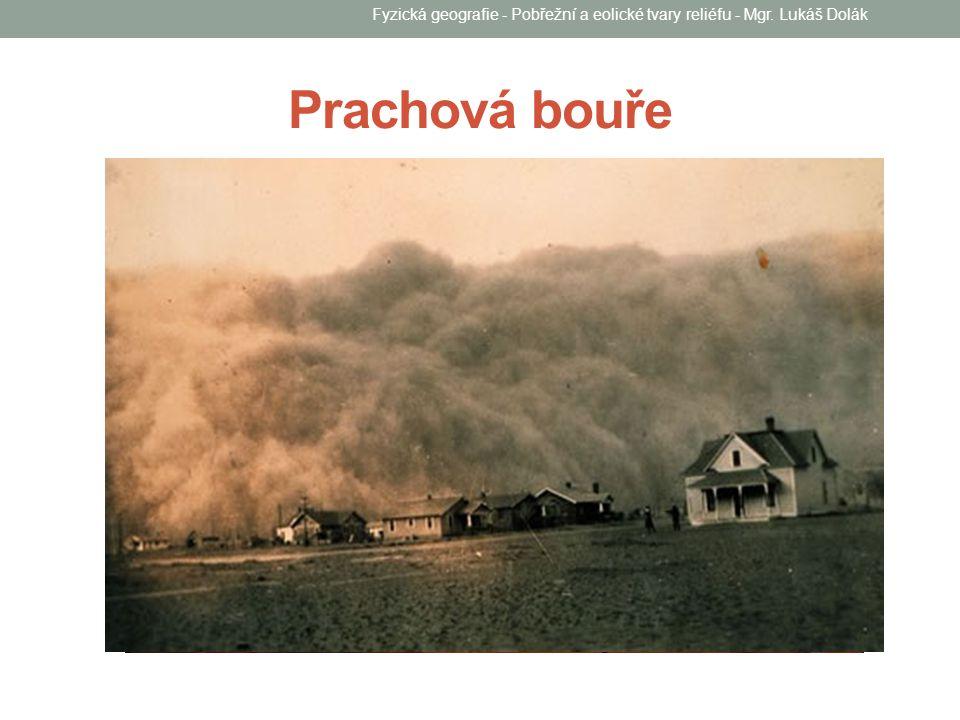 Prachová bouře Fyzická geografie - Pobřežní a eolické tvary reliéfu - Mgr. Lukáš Dolák