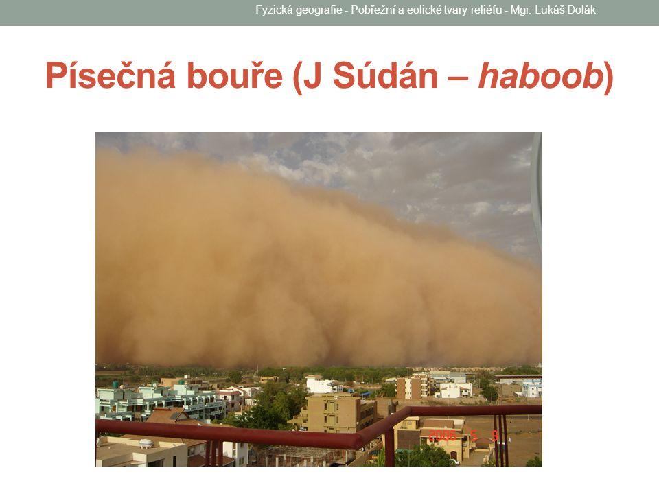 Písečná bouře (J Súdán – haboob) Fyzická geografie - Pobřežní a eolické tvary reliéfu - Mgr. Lukáš Dolák