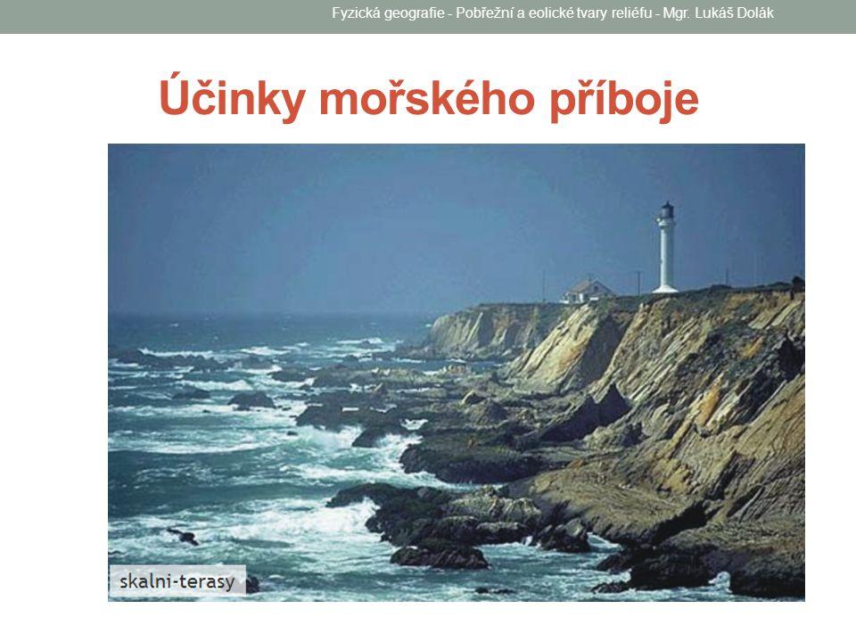 Klif, abrazní výklenek a srub Fyzická geografie - Pobřežní a eolické tvary reliéfu - Mgr.