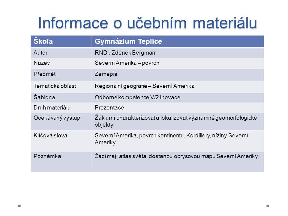 Informace o učebním materiálu ŠkolaGymnázium Teplice AutorRNDr.