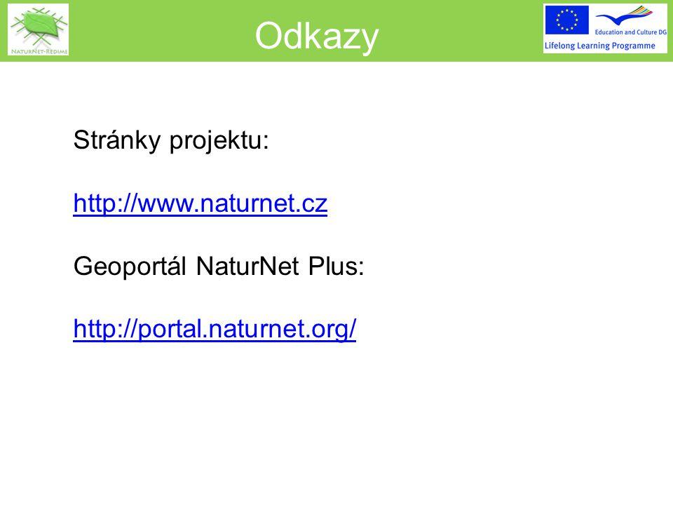 Odkazy Stránky projektu: http://www.naturnet.cz Geoportál NaturNet Plus: http://portal.naturnet.org/