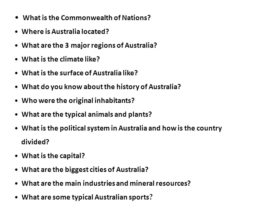 What is the Commonwealth of Nations. Where is Australia located.