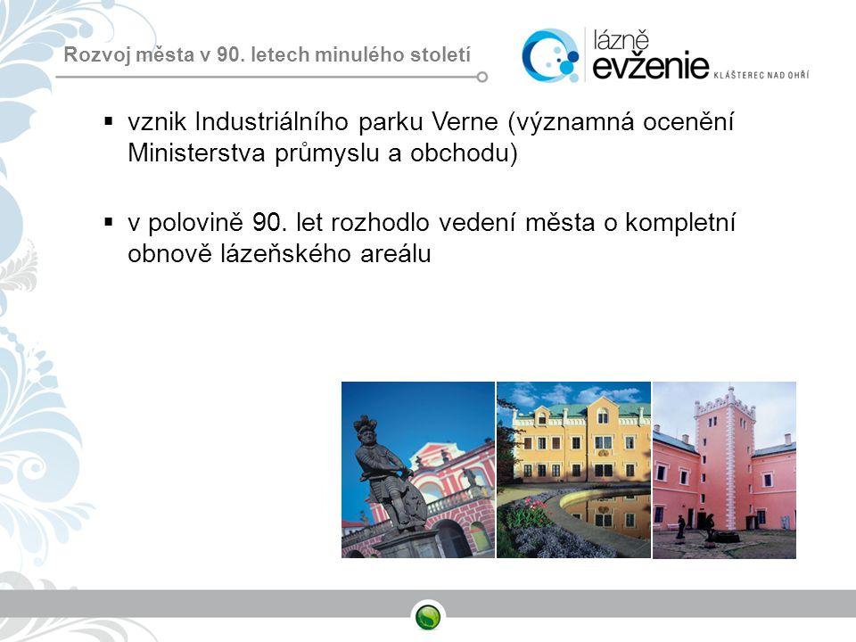 Rozvoj města v 90. letech minulého století  vznik Industriálního parku Verne (významná ocenění Ministerstva průmyslu a obchodu)  v polovině 90. let