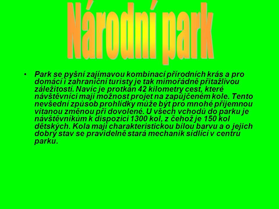 Park se pyšní zajímavou kombinací přírodních krás a pro domácí i zahraniční turisty je tak mimořádně přitažlivou záležitostí.