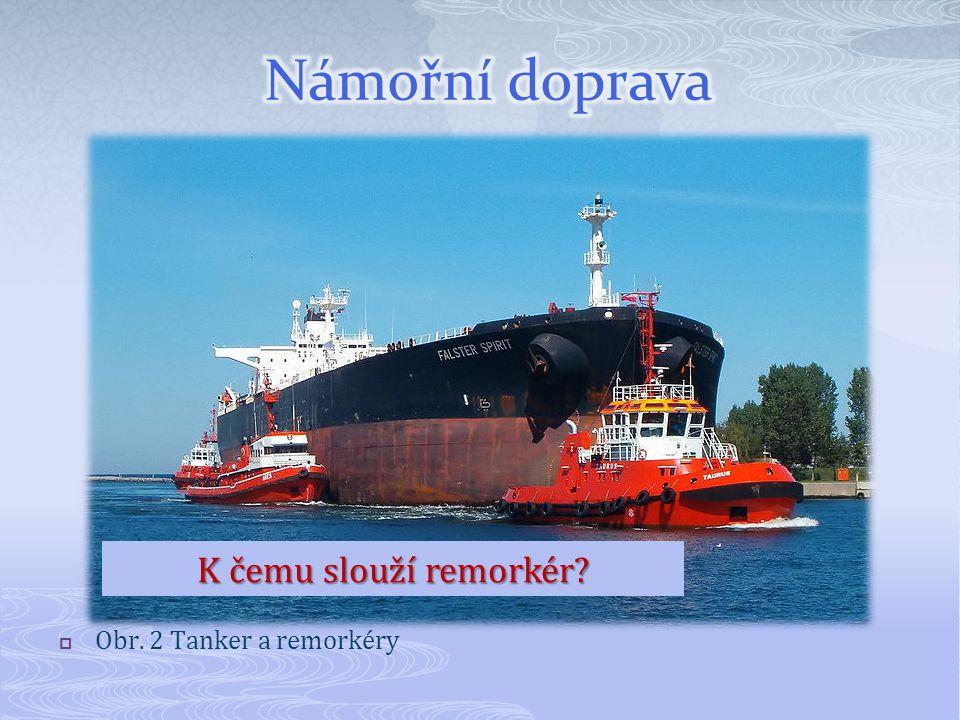  Obr. 2 Tanker a remorkéry K čemu slouží remorkér?