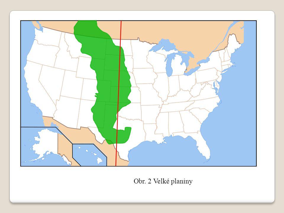 Obr. 3 Řez severoamerickým kontinentem