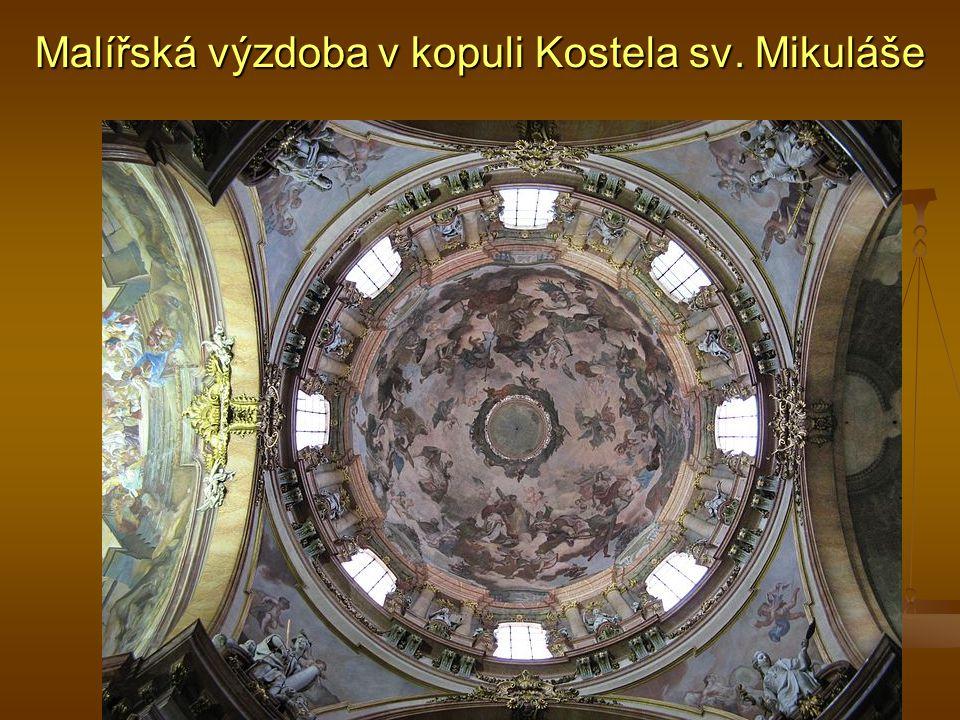 Malířská výzdoba v kopuli Kostela sv. Mikuláše