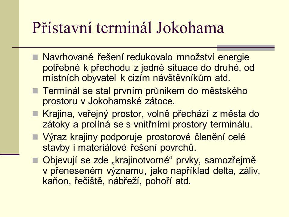 Přístavní terminál Jokohama Navrhované řešení redukovalo množství energie potřebné k přechodu z jedné situace do druhé, od místních obyvatel k cizím n