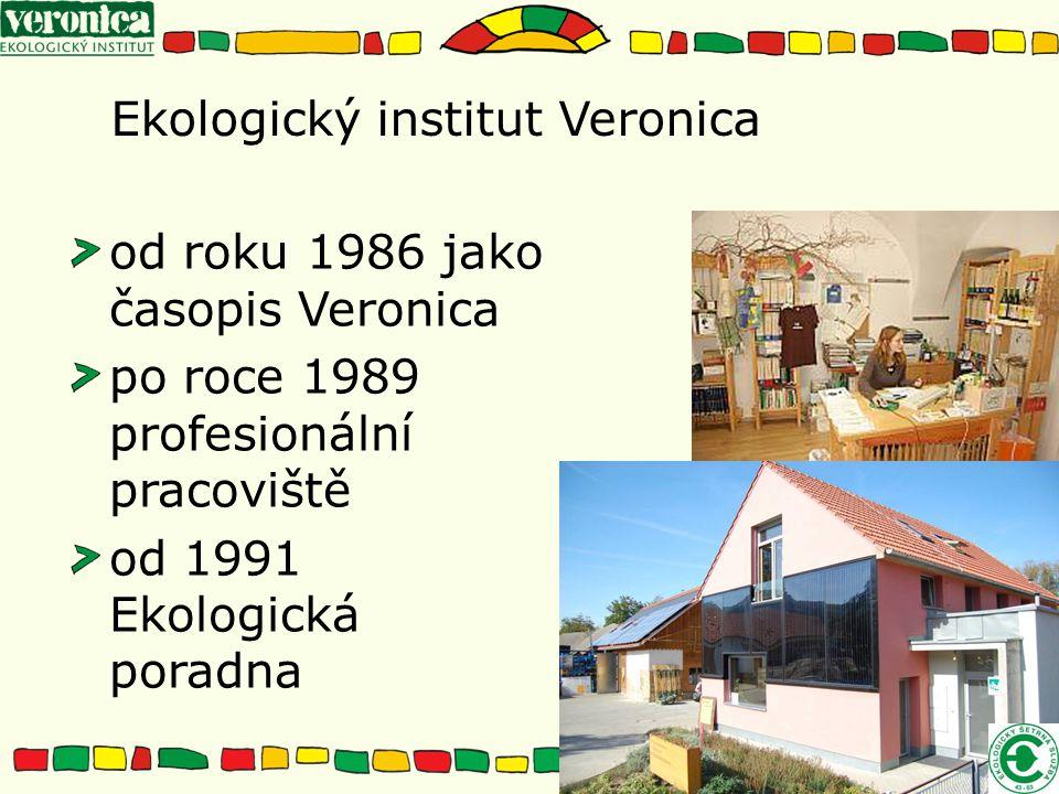 Ekologický institut Veronica od roku 1986 jako časopis Veronica po roce 1989 profesionální pracoviště od 1991 Ekologická poradna