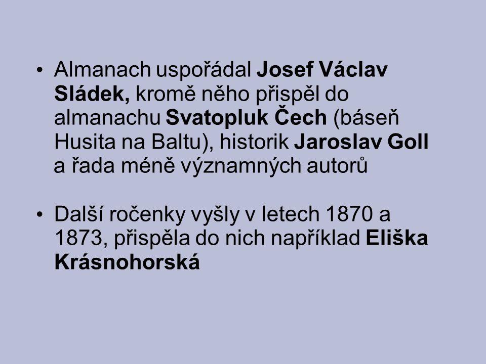 Svatopluk Čech (1846-1908) oddaný vlastenec, neuznával napodobování zahraničních vzorů pro jeho tvorbu je typický sklon k idyličnosti, řečnictví a přehnanému patosu sociální i politická problematika má často alegorickou podobu
