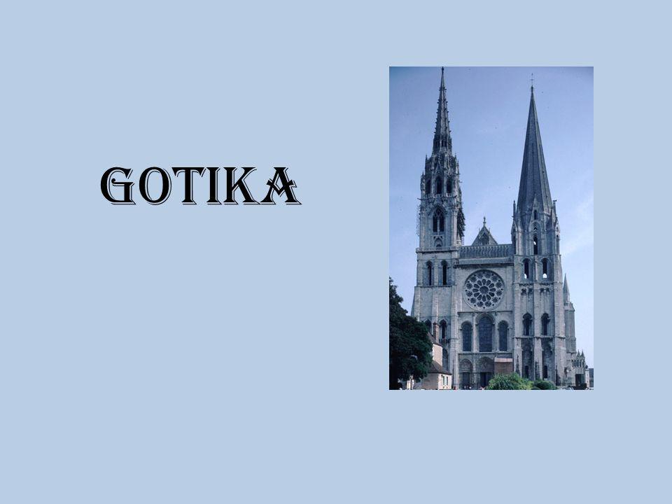 Jak vypadala gotická katedrála Nejčastěji trojlodní bazilika s příčnou lodí – tvar kříže Boční loď Hlavní loď Boční loď Příčná loď
