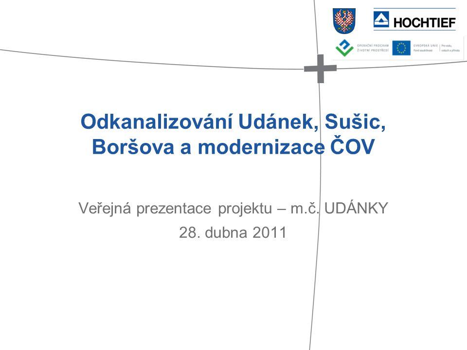 Odkanalizování Udánek, Sušic, Boršova a modernizace ČOV Veřejná prezentace projektu – m.č. UDÁNKY 28. dubna 2011