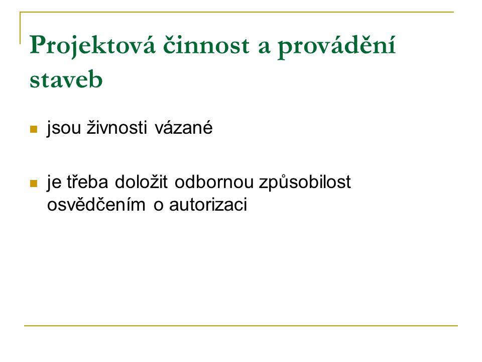 Osvědčení o autorizaci - stanovuje zákon č.360/1992 Sb.