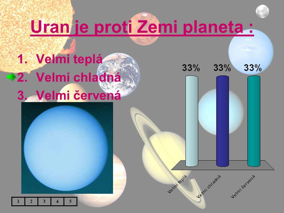 Uran je proti Zemi planeta : 1.Velmi teplá 2.Velmi chladná 3.Velmi červená 12345