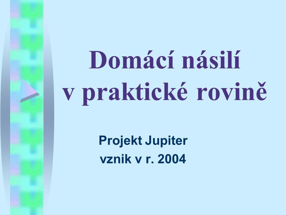 Domácí násilí v praktické rovině Projekt Jupiter vznik v r. 2004