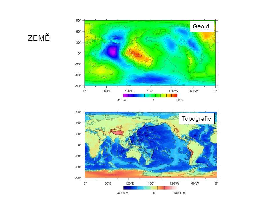 TITAN podle Zebker et al., Science 2010 Topografie Iess et al., Science 2009 Geoid do stupně 4