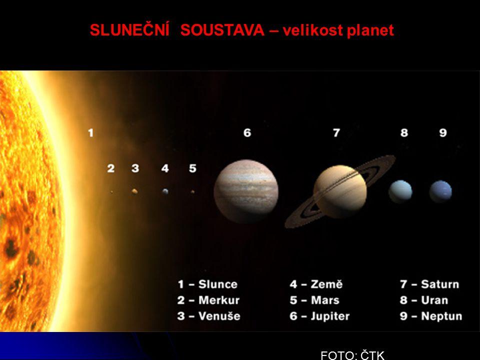 FOTO: ČTK SLUNEČNÍ SOUSTAVA – velikost planet