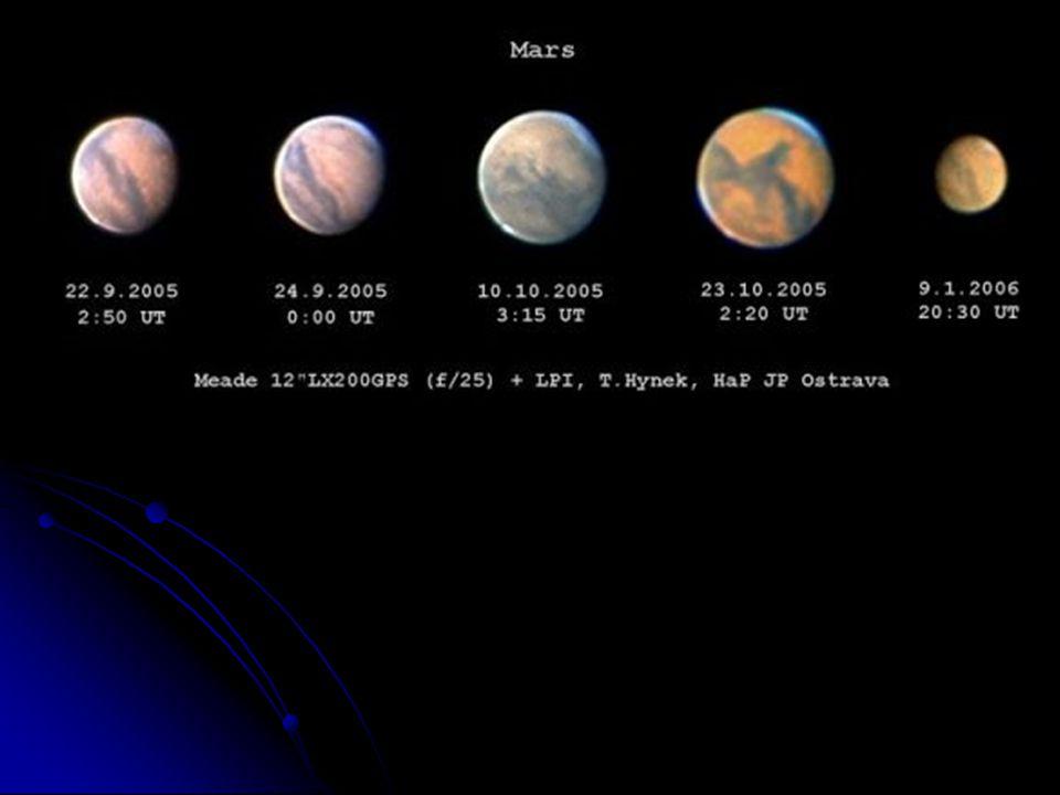 Planeta MARS -Teplota - 20 °C -Poloměr 3 400 km -Rok : 687 dní -Den : 24 h 37 min -2 měsíce