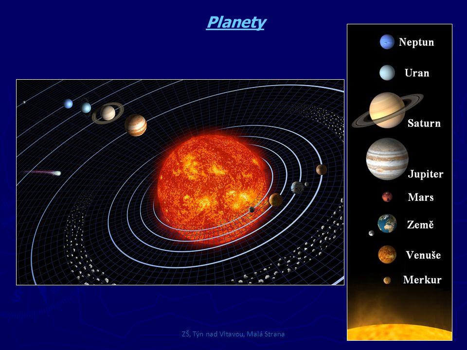 ZŠ, Týn nad Vltavou, Malá Strana Hlavní pás asteroidů v prostoru mezi drahami Marsu a Jupiteru je soustava planetek, které vznikly rozpadem několika větších těles