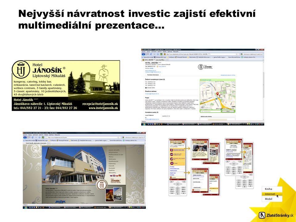 Nejvyšší návratnost investic zajistí efektivní multimediální prezentace… Velikost obr.: 8,7 x 8,48. Použijte čtvercové odrážky / Pls. use squared bull