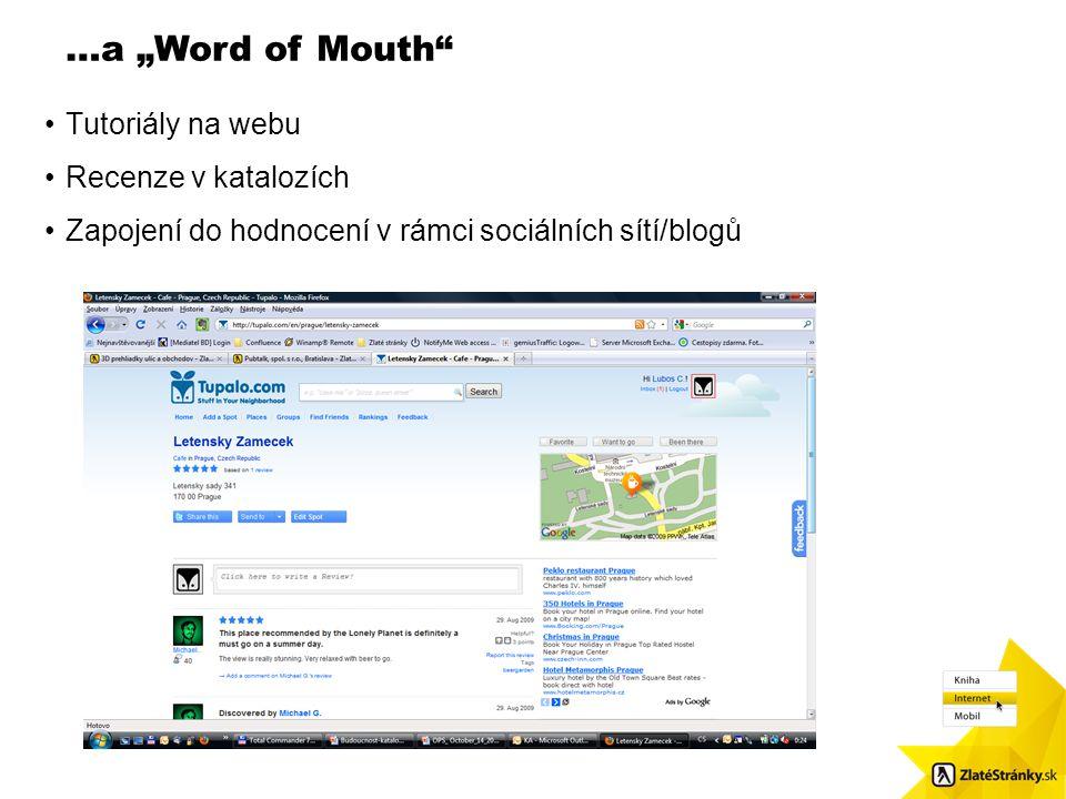 """…a """"Word of Mouth"""" Velikost obr.: 8,7 x 8,48. Použijte čtvercové odrážky / Pls. use squared bulletpoints Tutoriály na webu Recenze v katalozích Zapoje"""